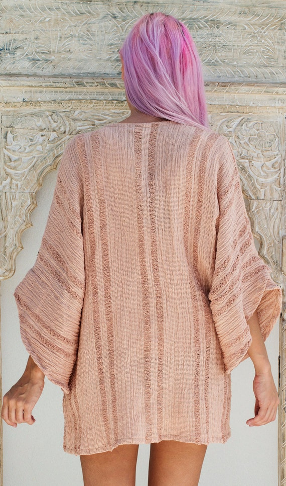 Clothing Gift Bohemian Dusty Kimono Kimono Boho Oversized Kimono Cardigan Boho Kimono Jacket Pink Womens Kimono Cardigan xqzwqRnTZY