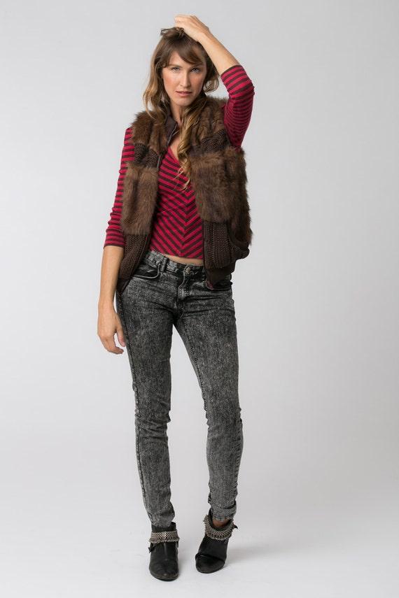 Trendy Gift Brown For Boho Boho Vest Vest Clothing Bohemian Fashion Clothing Fur Womens Women's Winter Brown Vest Women Faux RwAvqHHf