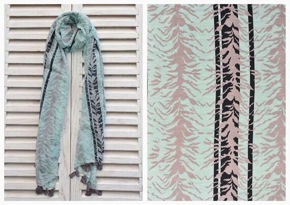 VENTE Turquoise foulard foulards pour les femmes imprimé   Etsy 20a1182e50f