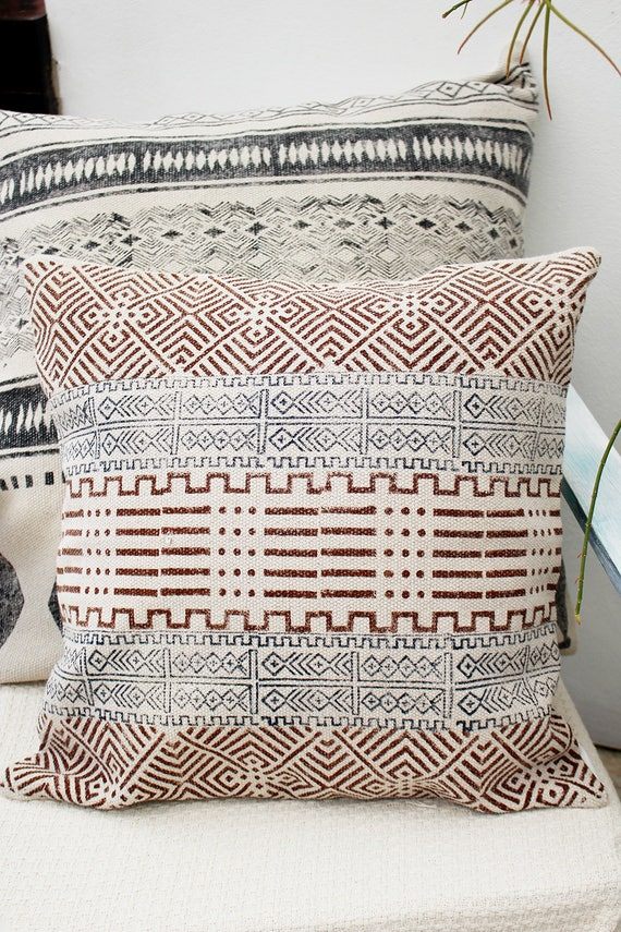 High End Boho Throw Pillow Cover 40x40 Sofa Pillows Cushion Etsy Awesome High End Decorative Pillows