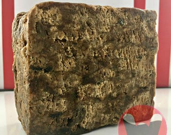 Raw African Black Soap, All Natural Unscented Raw Black Soap, 1 Pound (16oz) Soap Bar. FREE SHIPPING in US.