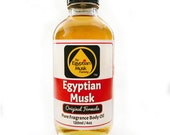 Egyptian Musk Oil, Pure and Thick, 4oz Glass Bottle by WagsMarket - Egyptian Musk Factory, FREE SHIPPING in US.
