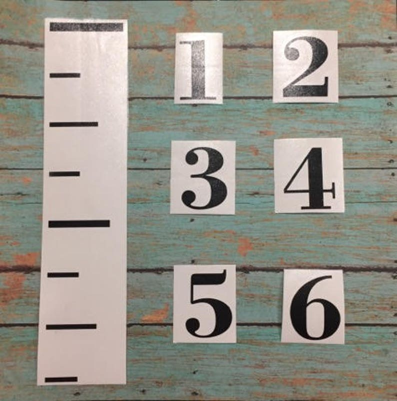 Diy Growth Chart Ruler Etsy