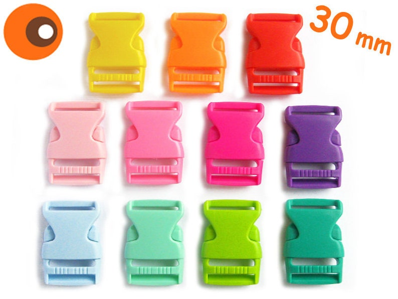 5 push-in buckles 30 mm click Closure image 0