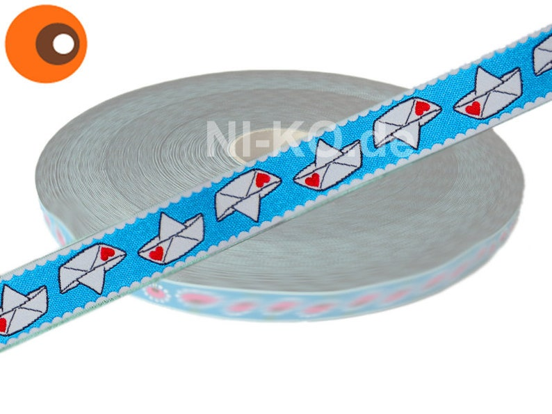 1m weaving tape different designs 01 Love Boat, türkis
