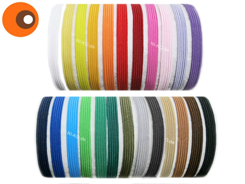 5 m rubber tzelet-7 mm 27 colours-rubber band image 0