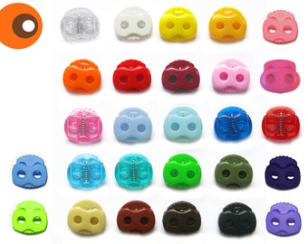Cord stopper large, 10 pieces, free color choice