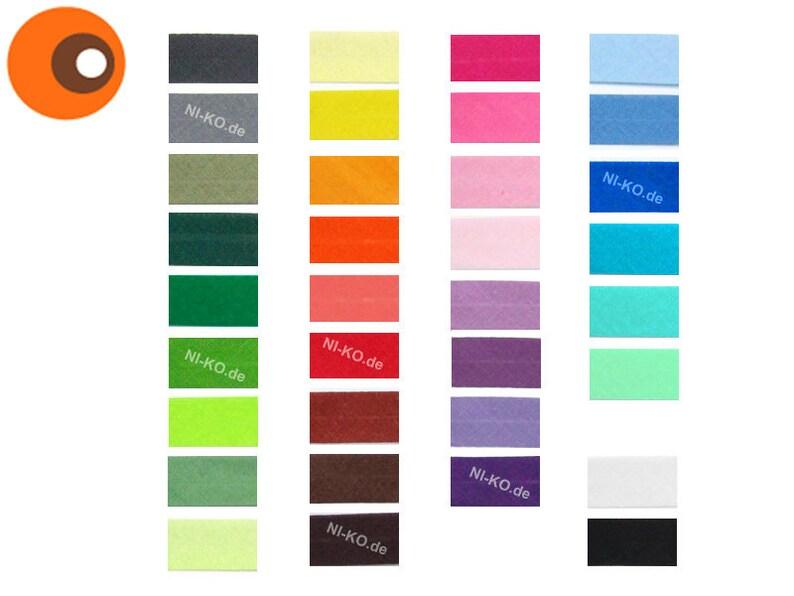 5m slanted ribbon 18 mm-39 colours image 0
