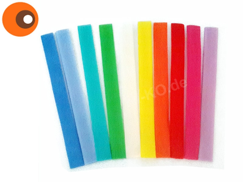 Colorful bag of Velcro 10 x 20 cm as pictured image 0