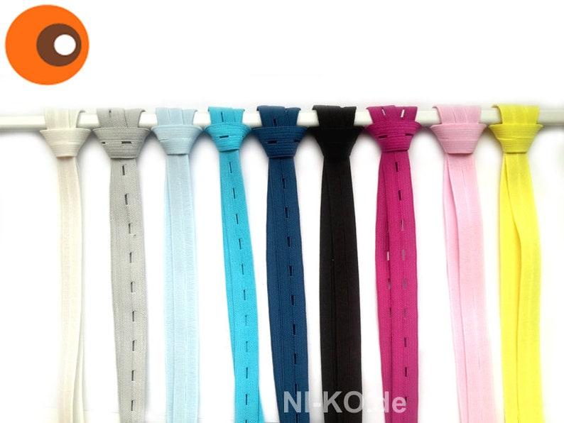 5 m buttonhole rubber-15 mm-rubber band rubber tzel pink 4,30m