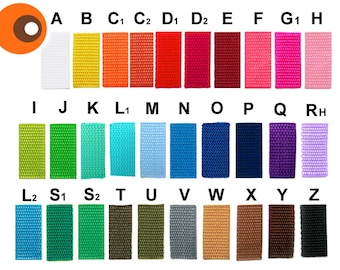 5 m webbing, 30 mm - 46 colors to choose from