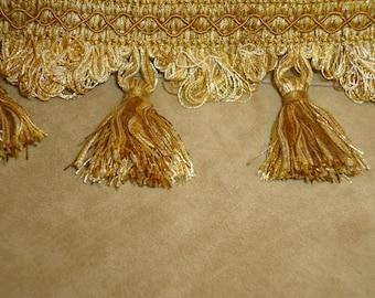 Tassel  Fringe Antique Gold 3 Inch