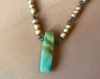 Jasper and Gold Necklace