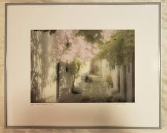William P. Thayer Limited Numbered Signed Lithograph of Paros, Greece 1990 - 94/250