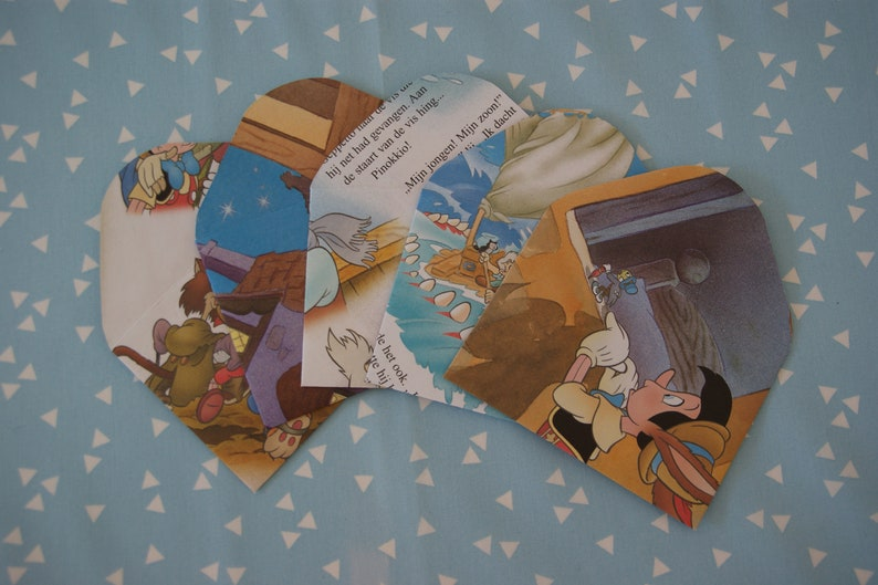 A6 /& A7 birthday 13x Vintage envelopes recycled Pinocchio party