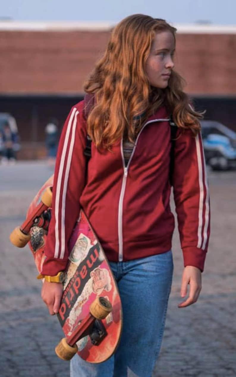 c5a805ac86 Stranger Things season 2 Mad Max Maxine red track jacket | Etsy