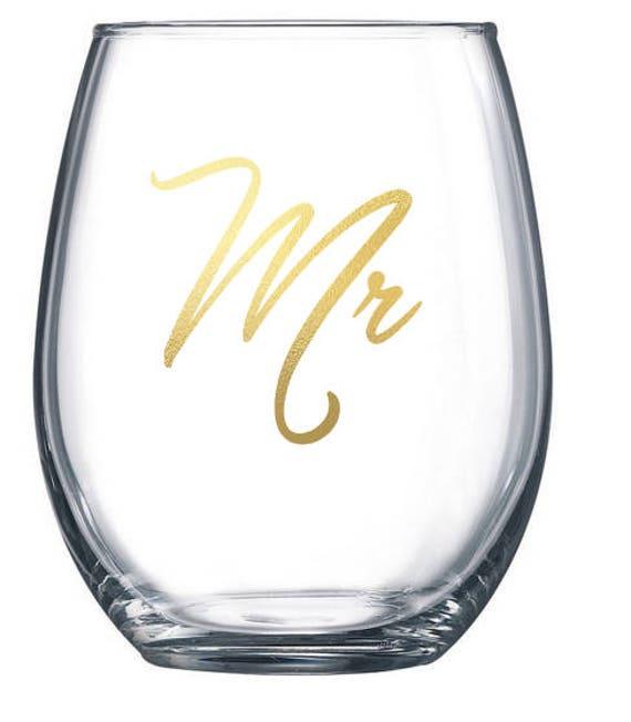 Monsieur et Monsieur partenaire mariage gay mariage cadeau vin verre parti verres à vin sur mesure sans ou avec tiges cadeau vin personnalisé des faveurs du parti