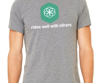 Rides Well with Others Mens Short Sleeve T-shirt leaderboard name shirt