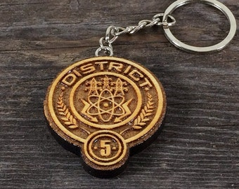 Keychain District 5 of the Hunger games movie