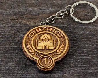 Key chain 1 District of the Hunger games movie