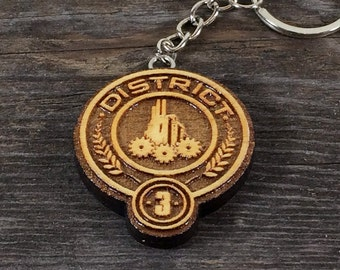 Keychain District 3 of the Hunger games movie