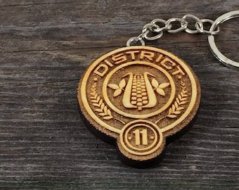 Keychain District 11 of the Hunger games movie