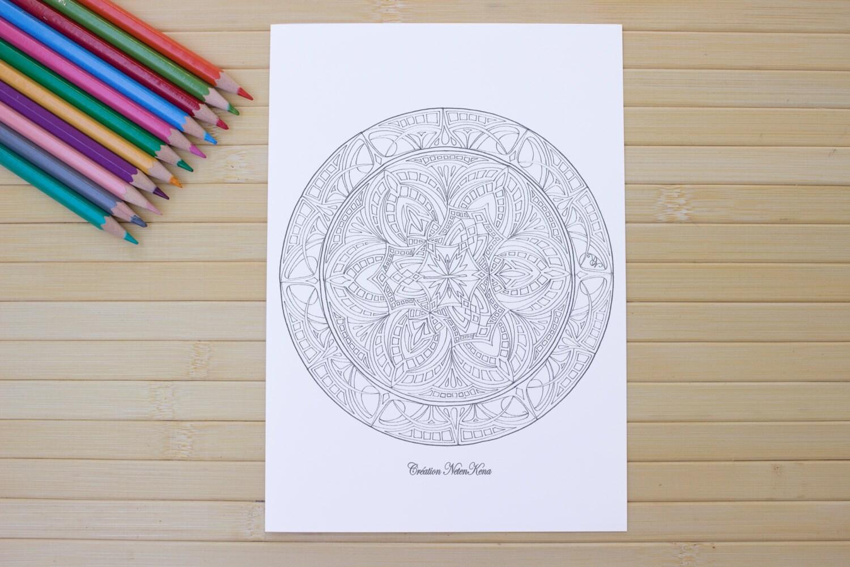 Mandala Coloring PDF Download A 8.5 X11 ' Art