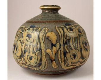 Ivan Weiss, Royal Copenhagen, Denmark. Large Stoneware Vase Model 22559, Mid Century