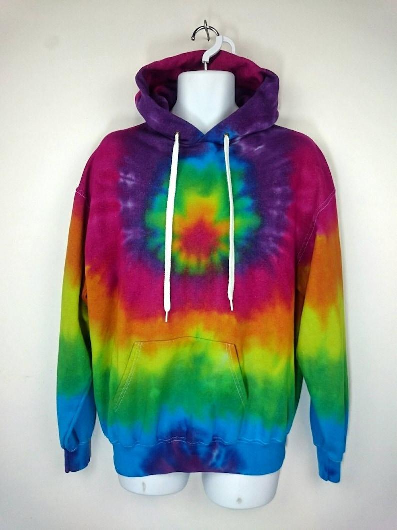 adbc4c23 Pink Rainbow Hoodie Tie dye Hoody Tie dye sweatshirt Tie | Etsy
