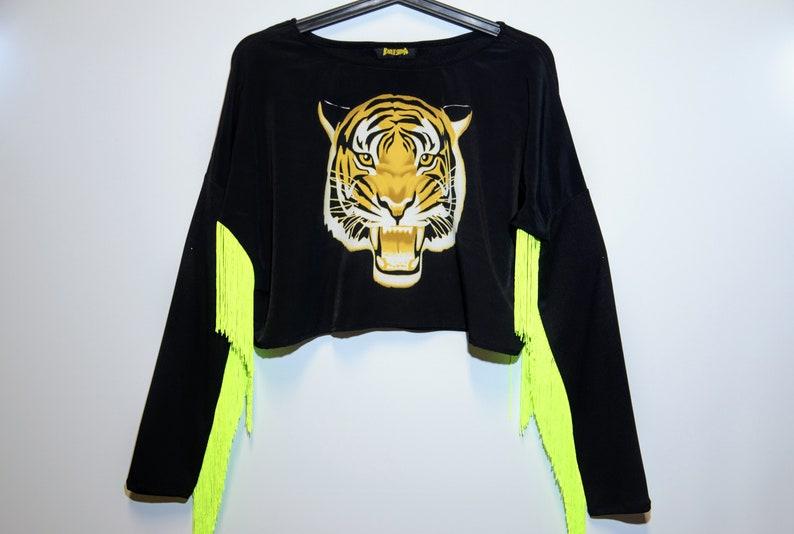Crazy Rave Tiger Yellow Fringe image 0