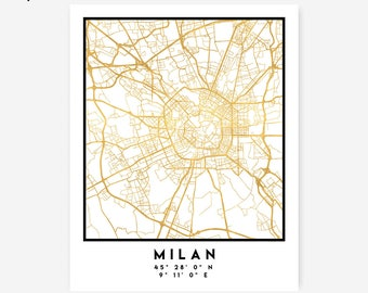 Naples Map Coordinates Print Italy City Street Map Art | Etsy