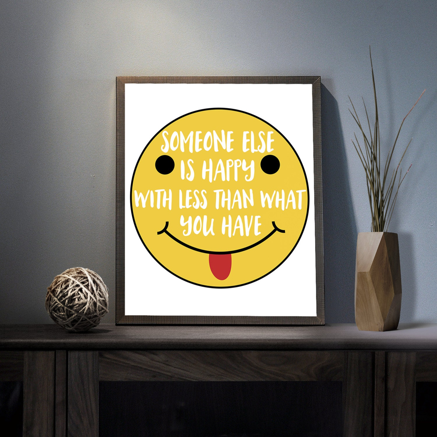 Someone else is happy Digital Art Print Inspirational Smiley | Etsy