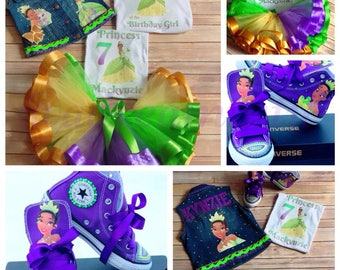 Princess Tiana Full Ribbon Tutu Set