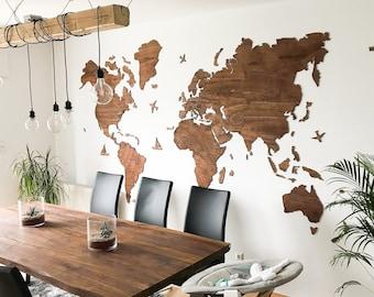 Large world map | Etsy