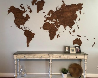 Wood world map etsy more colors farmhouse wall world map gumiabroncs Choice Image