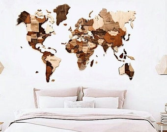 Wood World Map Cut Out.Wooden World Map Etsy