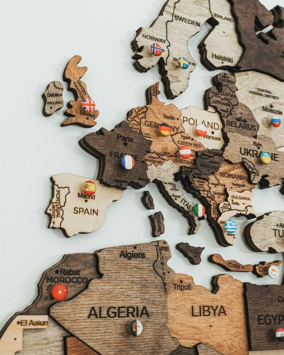 Home Wall Decor,3D Wood Wall Art,Rustic Wall Map,Wooden Map,Large Travel Map 5th Anniversary Gift,Wall Decor Travel Map,World Map,Wall Decor