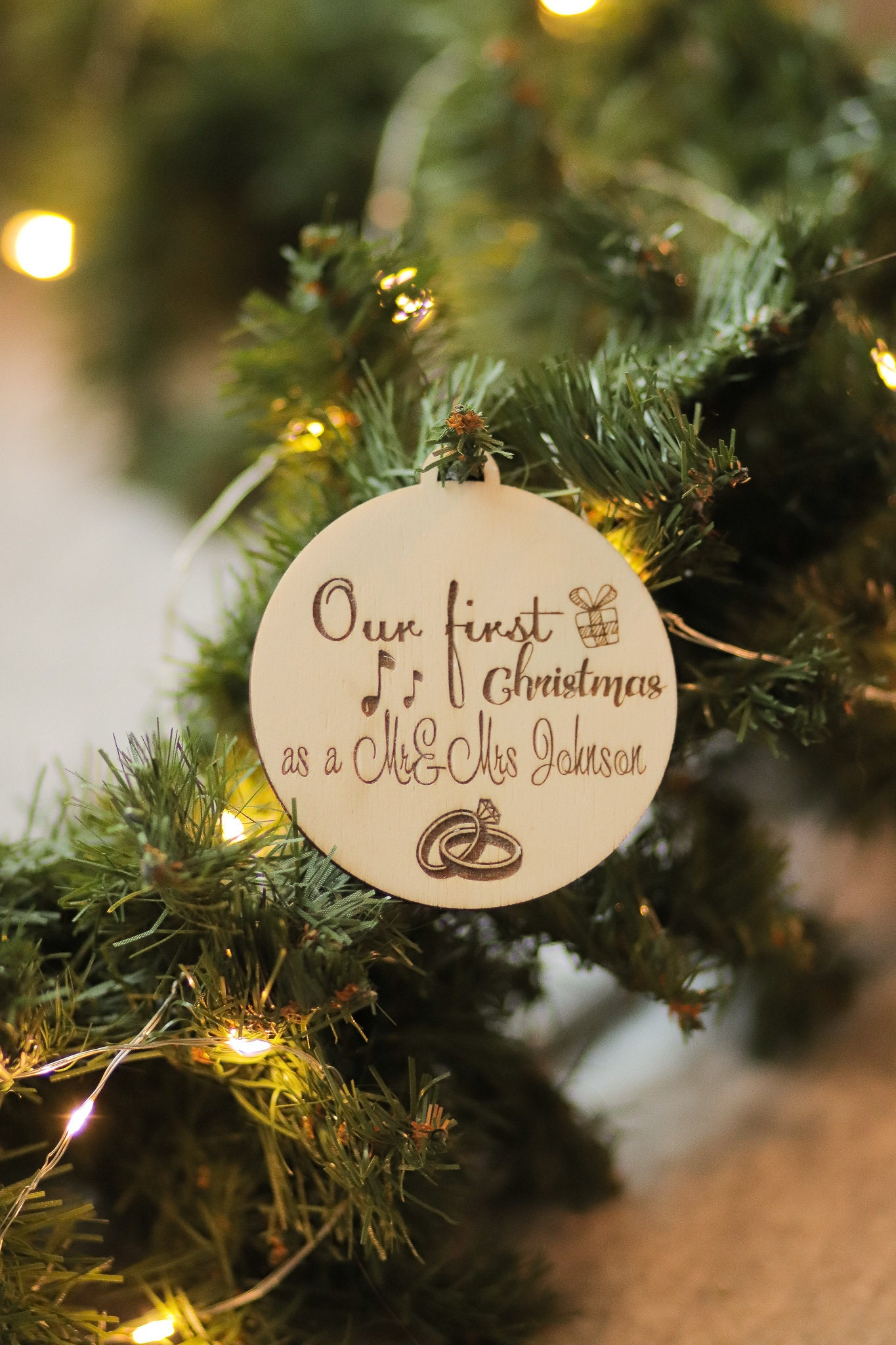 First Christmas Ornaments Personalized Newlywed Gift Just   Etsy