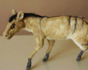 Hyracotherium, Eohippus, Prehistoric horse, dawn horse needle felted, horse figurine horses history