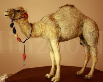 Felted animals, Camel, camel needle felting, animal art, dromedary, camel sculpture, camel dolls, felting camel, animals art, soft dolls