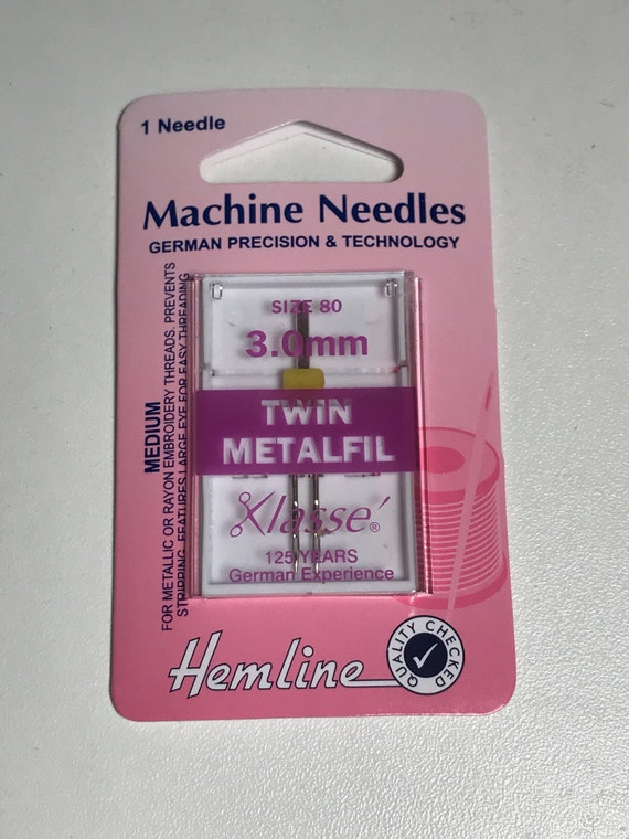 Klasse Machine Sewing Needles Twin Ballpoint 80//3mm