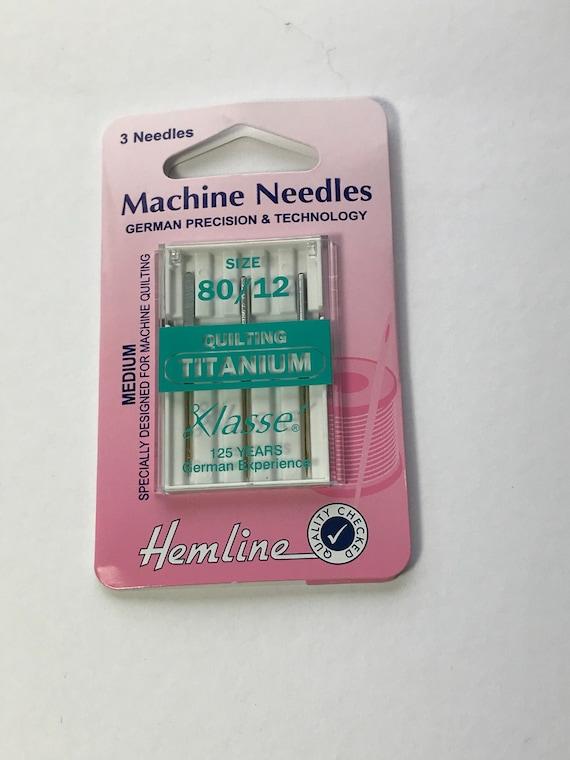 4 Needles-Bundle of 20 Needles Klasse Titanium Quilting 80//12