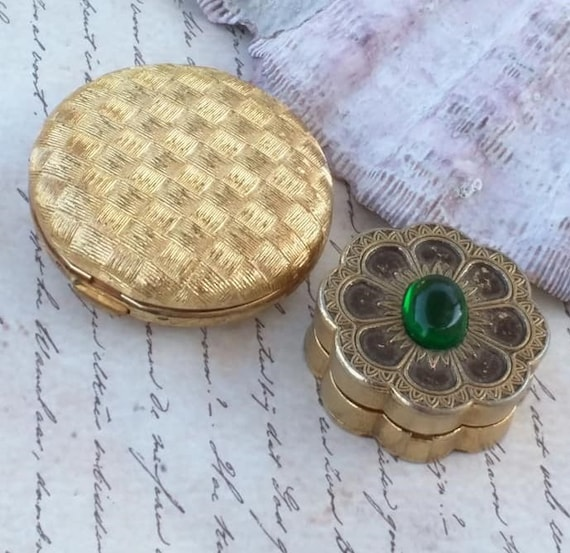 Vintage lot Perfume Compacts Revlon Moon Drops and
