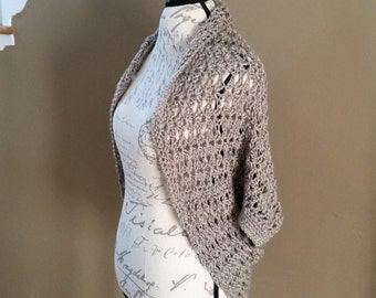 Sweater PATTERN, Shrug Pattern, Sweater, Cocoon Sweater, Wrap, Shawl Sweater, Everyday Sweater, Crochet Sweater