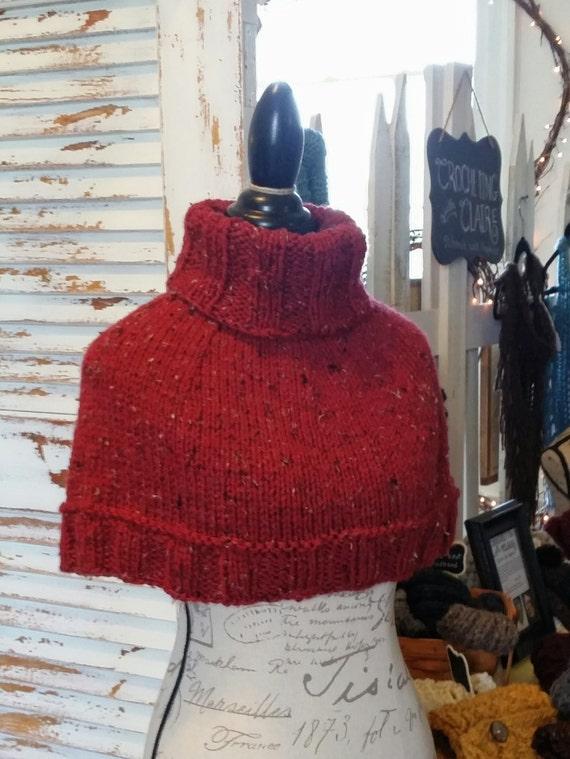 Capelet Pattern Poncho Cowl Knitting Pattern Cape Etsy