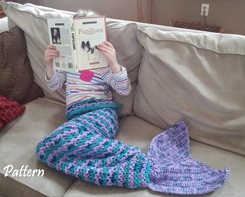 Child Size Crochet Mermaid Tail Snuggle Sack Pattern Mermaid Etsy