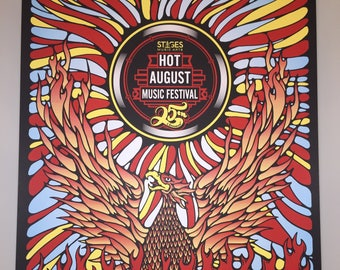 OFFICIAL Hot August Music Festival 2017 Poster