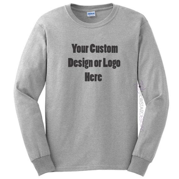 c9c65193 Custom Adult Unisex Long Sleeve Shirt Personalized Tees   Etsy