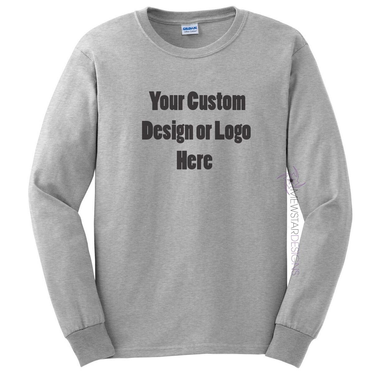 e7fc098c6 Custom Adult Unisex Long Sleeve Shirt Personalized Tees | Etsy