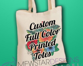 Personalized Tote Bag, Custom Canvas Tote, Printed Canvas Bag, Design Your Own, Bridesmaids Gifts, Printed Tote, Shoulder Bag